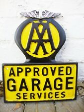 AA cast sign AA sign Automobile Association sign garage sign breakdown VAC002
