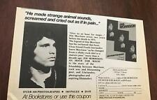 1982 VINTAGE 5X8 BOOK PROMO PRINT Ad FOR JIM MORRISON AN HOUR FOR MAGIC THE DOOR