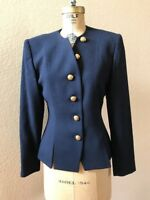 BICCI Florine Wachter womens size 6 Hungary Made Navy Blue 100%Wool