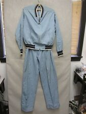 S2650 Vintage 1950's Hercules Putter Pants by Sears Jacket and Pants Light Blue