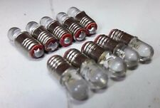 10x 12V E5 LES Lilliput LED Yellow Miniature Screw 00 OO HO Scale Signal Bulbs