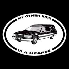 """New """"My Other Ride Is A Hearse"""" funeral car Decal bumper sticker coffin cadillac"""