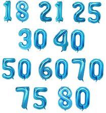 SiDeSo® 2 XXL Folienballon Zahl 10-99 blau Geburtstag Jubiläum Hochzeitstag