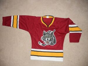 Chicago Wolves Hockey Jersey AHL Away Colors SGA Hurricanes Youth S/M Sweet Cool