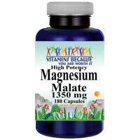 Magnesium Malate High Potency 1350mg 180 Caps Vitamins Because