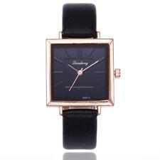 Women Fashion Leather Band Analog Quartz Square Quartz Wrist Watch Watches
