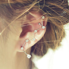Crystal Dipper Ear Stud Earrings New 1 Pair Fashion Women Silver Jewelry Elegant