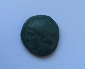RARE ANCIENT GREEK BRONZE COIN PHILIP II OF MACEDON /359-336 B.C./ NICE PATINA