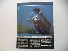advertising Pubblicità 1988 MOTO BMW K100 K 100 LT