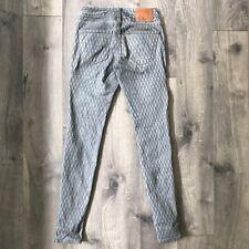 True Religion Snake Skin Print Denim Jeans Woman's Size 23 Halle Mojave Lonestar