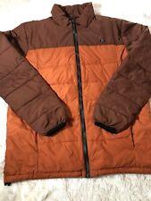 BILLABONG Puffer Coat Jacket Burnt Orange Brown size M Excellent