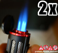 2 x Triple Jet 3 Flammen Sturm Feuerzeug Torch Gasbrenner Zigarrenfeuerzeug