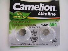 2 pilas de botón Camelion ag4 LR 626 LR 66 Sr 626w 377 gp77a
