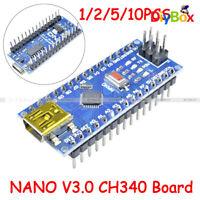 1/2/5/10PCS Mini USB 5V Nano V3.0 ATmega328P 16MHz Micro-Controller CH340G Board