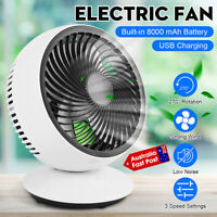 Desktop Electric Fan Small Quiet Noiseless Cooler USB Powered Portable Table Fan