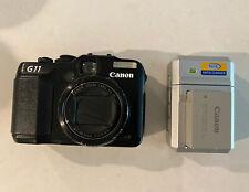 Canon PowerShot G11 3632B00 10MP Compact Digital Camera - Black Tested Working