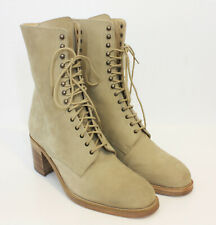 Free Lance Classics Paris NEW Suede Lace Up Boots Heels Cappuccino 41 US 10.5