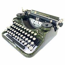 1928 Green Underwood Portable Typewriter Vtg Elite Antique 打字机 Schreibmaschine