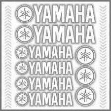 9x YAMAHA White STICKERS TMAX Majesty Super Tenere XT TDM TW WR XV YS YBR 1200Z