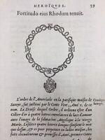 Savoie Ordre de l'annonciade 1557 Rhodes Arlay Chalamont Menton Genève Gravure