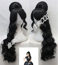 Party Amy Winehouse Rehab Black Women Cosplay Costume Wig