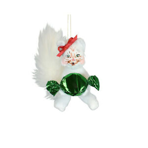 Annalee Dolls 2021 Christmas 3in Candy Kitty Plush Ornament New with Box
