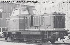 AK UNREAD Morop Congress; Sweden litt. T21 101 Baden Model järnvägs (G2561)