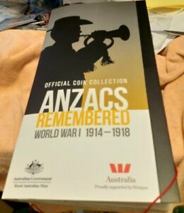 Anzacs Remembered World War 1 1914-1918coin collection13 coins missing Gallipoli