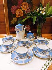 """Coffe Set """"Ships"""" Vasara Riga porcelain 14 pcs 1970-1975 RPR (NO LFZ) NEW RARE"""