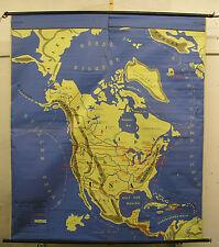 Schulwandkarte Wandkarte Amerika Nordamerika Südamerika America map 160x183cm