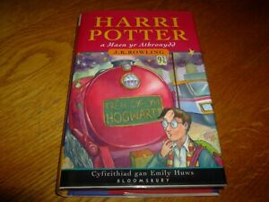 J K ROWLING-THE PHILOSOPHERS STONE-SIGNED-1ST ED IN WELSH-2000-NF-HB-VRARE