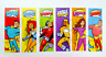 Pack of 12 - Superhero Bookmarks - Reading Teacher Supplies Party Bag Fillers