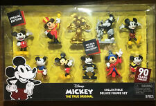 New Mickey's 90th Anniversary Deluxe Figure Set 10 Piece - Golden Mickey Gold