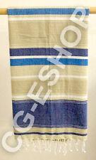 TELO MARE FOUTA COTONE 100x200 mod. LEVANTE riga blu bianco beige
