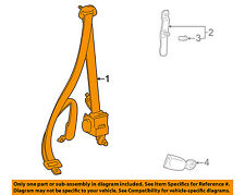 TOYOTA OEM 98-00 RAV4 Front Seat-Belt & Buckle Retractor Left 7322042200B0