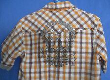 Men's 7 Diamonds Short Sleeve Plaid Shirt Western Pearl Snaps Size Large