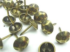 Antique Brass Hammered Head Nail/Upholstery Tack Pkg 100