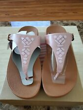 Fitflop Womens Size 9 Color Dusky Pink The Skinny Toe Thong Crystal
