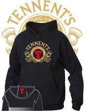Felpa Hoodie Neutra Printed Logo Birra Tennent's disp. 7 Col  Cotone Beer Unisex