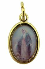 Gold Tone with Epoxy Image Catholic Our Lady of Grace Saint Medal Pendant, 1Inch