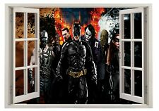 Batman Joker Dark Knight Bedroom 3D Window Wall Sticker Poster Vinyl Decal Q22
