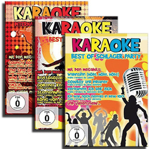 3 Karaoke DVD Set - Deutsche Kult Schlager Party - NDW - Pop Party Kult - Neu