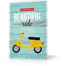 METAL TIN SIGN MOTORCYCLE VESPA ITALIA #2 Vintage Retro Decor Home Garage Poster
