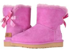 NEW Authentic UGG Women's Bailey Bow Winter Boots Shoes Black Chestnut Pink Grey