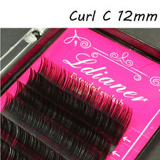 4 Sizes Mink Individual False Eyelashes Fake Lash Extensions C Curl Cosmestic 12mm