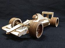 Laser Cut Wooden Formula 1 Race Car 3D Model/Puzzle Kit
