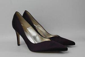 L.K. BENNETT Ladies Purple Satin Pointed Toe Slip On Fern Court Shoes EU40 UK7
