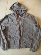 ladies EXCHANGE UNLIMITED GRAY JACKET hood PLAIN SOLID zipper SPRING FALL large
