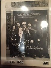 """J. Geils Band Autographed Signed Glossy Photo Peter Wolfe """"Centerfold"""" 8x10 Rare"""