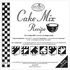 MISS ROSIE'S QUILT CO~CAKE MIX RECIPE 2~45 SHEETS 4 LAYER CAKE HALF SQ TRIANGLES